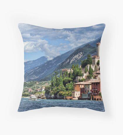 Castello Scaligeri, Malcesine, Lake Garda Throw Pillow