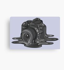 Camera Melt Canvas Print