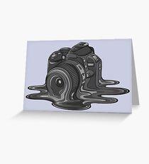 Camera Melt Greeting Card