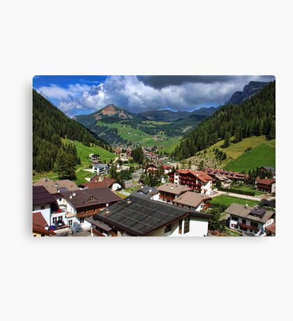 Above the Rooftops, The Dolomites Canvas Print