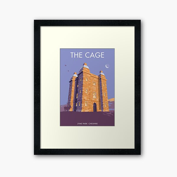 The Cage, Lyme Park, Cheshire Framed Art Print