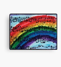 I Can Sing a Rainbow Canvas Print