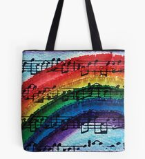 I Can Sing a Rainbow Tote Bag