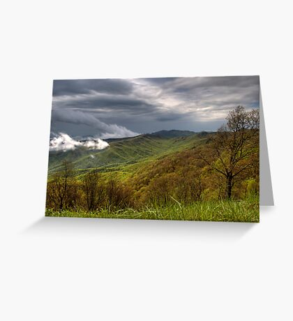 Spring Storm on the Blue Ridge  Greeting Card