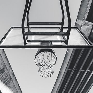 Basketball basket in black and white optics gift idea by leon9440