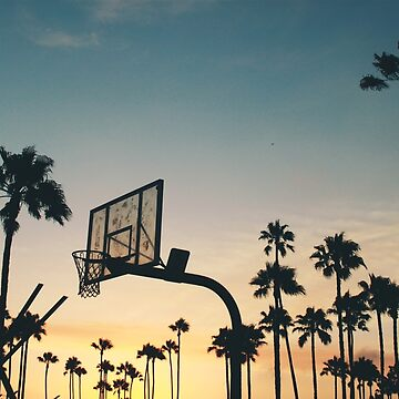 Basketball hoop in the sunset. Gift idea by leon9440