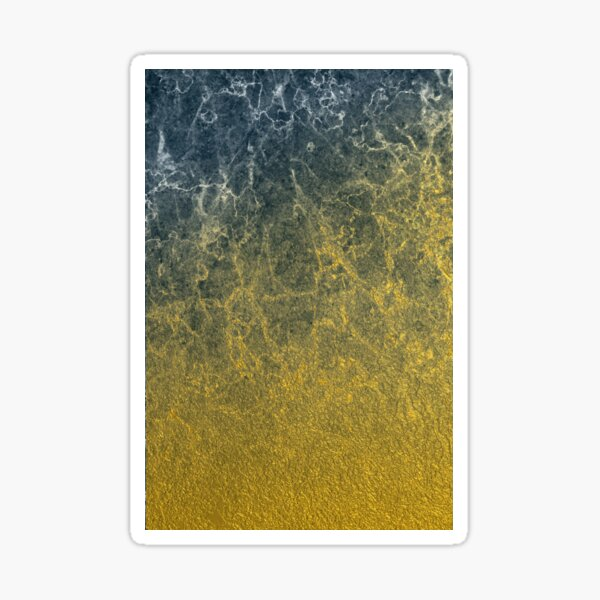 Molten Gold Into Black Marble Sticker