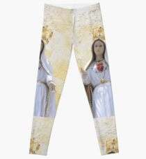 Our Lady of Fatima Blessed Virgin Mary Religious Christian Catholic Gift Leggings
