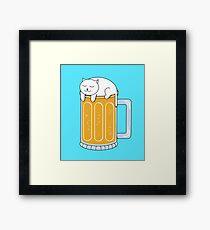 Cat Beer Framed Print