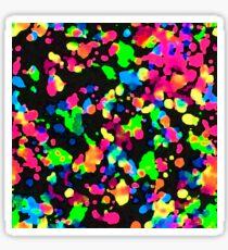 Blacklight Neon Paint Splatter Sticker