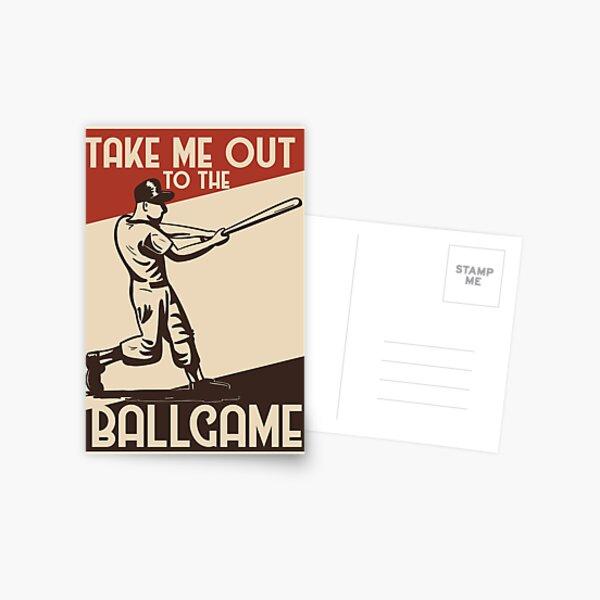 Take Me Out to the Ballgame Postcard