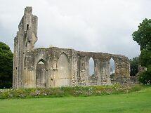 Glastonbury Abbey (Section) by lezvee
