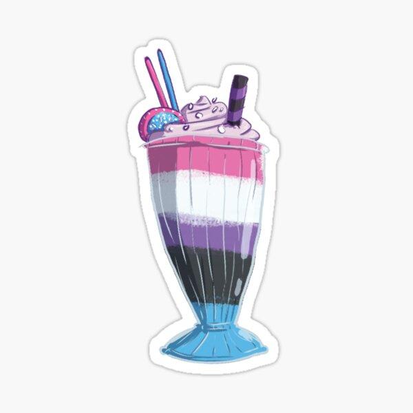 Genderfluid Milkshake Sticker