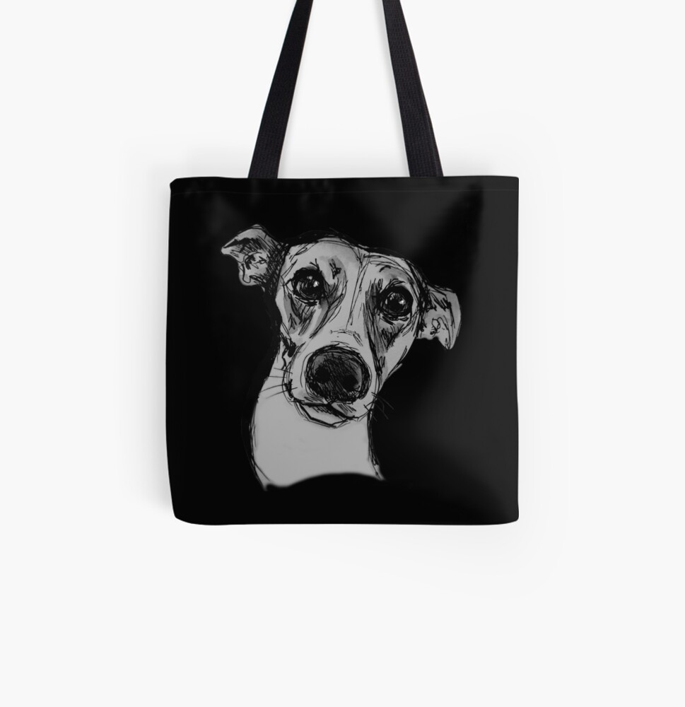 Whippet All Over Print Tote Bag