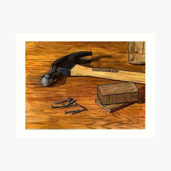 Hammer and Nails Art Print