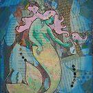Mixed Media Mermaid by Anna Van Skike