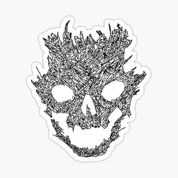 Halo Emile Skull Sticker