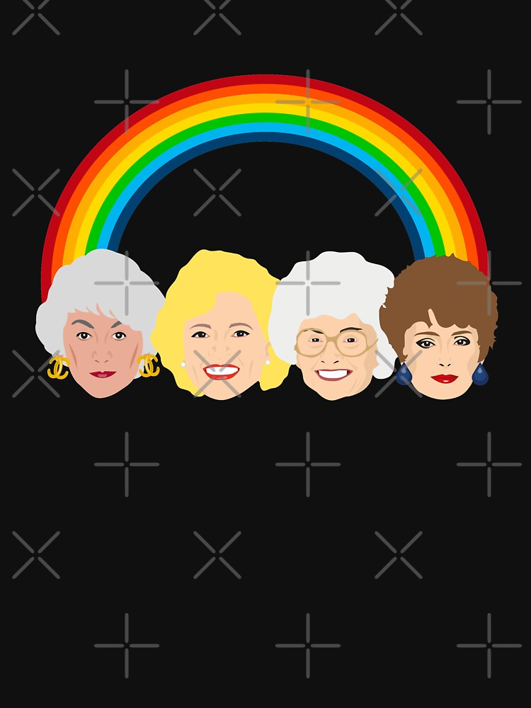 LGBT Pride Dorothy, Blanche, Rose and Sophia Design by gregs-celeb-art
