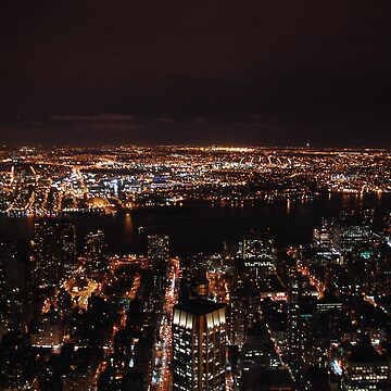View of New York City at night by HayleyWright