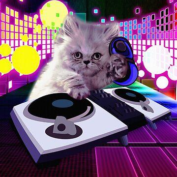 DJ Scratch Cat  by hip-hop-art