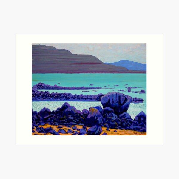 Galway Bay Rocks, Ireland Art Print