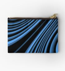 Black and blue arc Studio Pouch