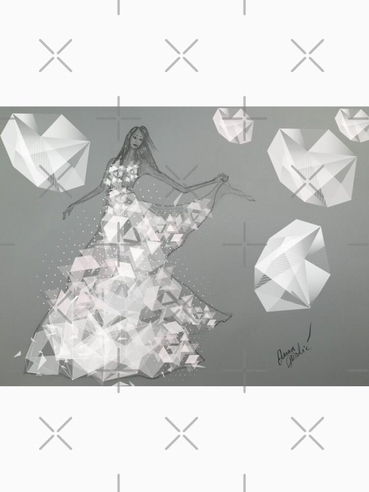 Dancing Girl, A Bridal Fashion Illustration by IvanaKada