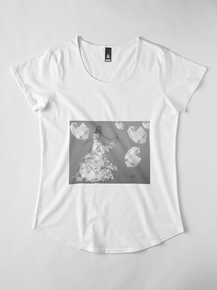 Alternate view of Dancing Girl, A Bridal Fashion Illustration Premium Scoop T-Shirt