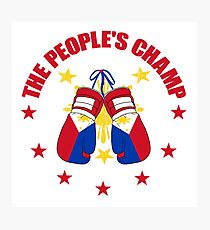 The People's Champ Boxing Photographic Print