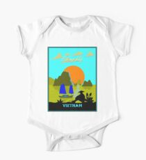 VIETNAM : Halong Bay Travel and Tourism Advertising Print One Piece - Short Sleeve