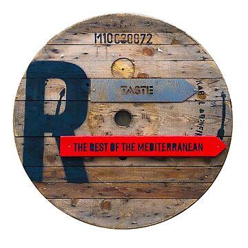 The Best if the Medditeranean - Vintage Wooden Sign by BrunoBeach
