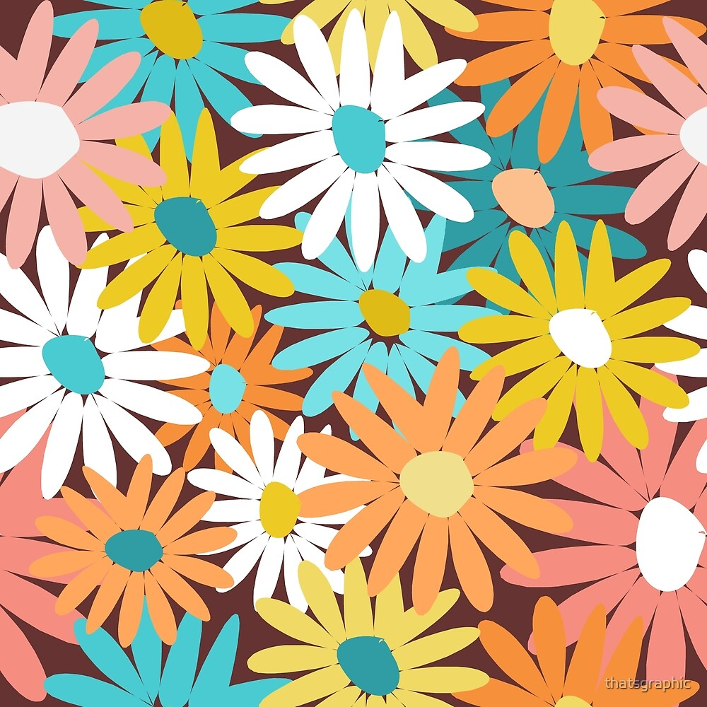 Bright cheery daisies by thatsgraphic