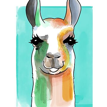 Llama Watercolor by Kittyworks