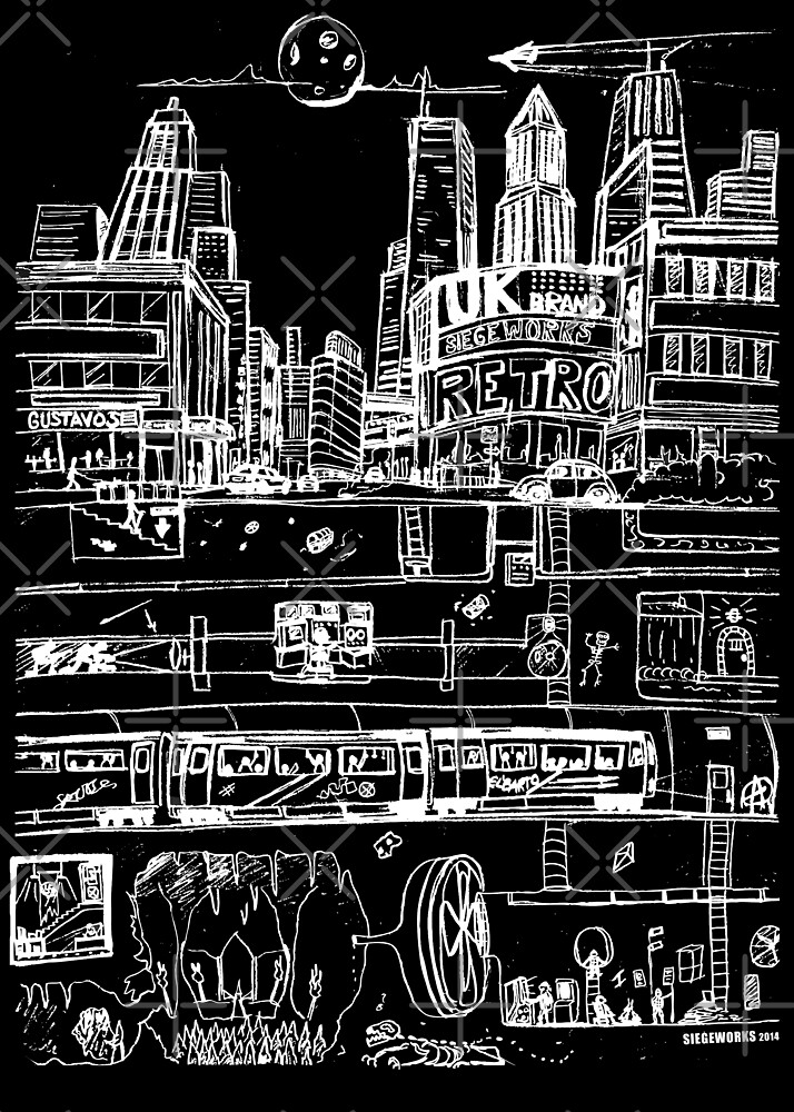 City Limits (White) by Chris Jackson