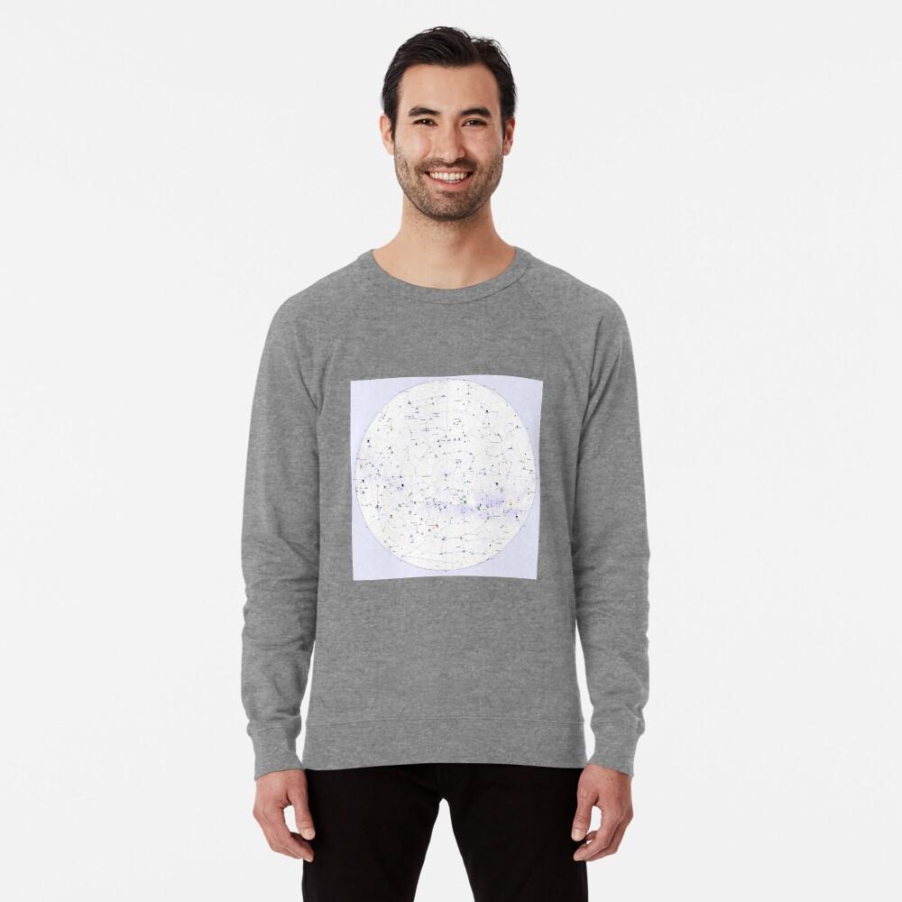 Constellation Map, ssrco,lightweight_sweatshirt,mens,heather_grey_lightweight_raglan_sweatshirt,front,square_three_quarter,x1000-bg,f8f8f8