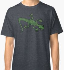 Green Gecko with pattern Classic T-Shirt