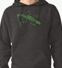 Green Gecko with pattern Pullover Hoodie