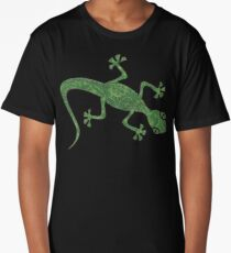 Green Gecko with pattern Long T-Shirt