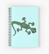 Green Gecko with pattern Spiral Notebook