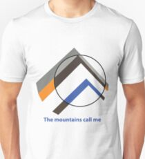 Abstract mountain with circle Unisex T-Shirt