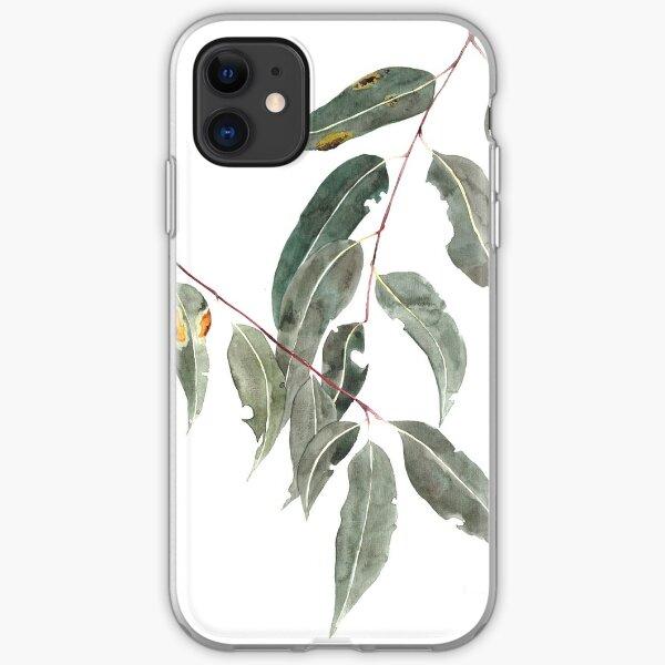 Gum leaves watercolour Australian native iPhone Soft Case