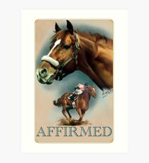 Affirmed with Name plate Art Print