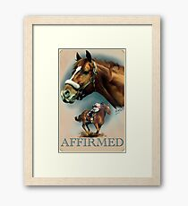 Affirmed with Name plate Framed Print