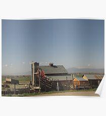 Barn near Longmont Colorado Poster