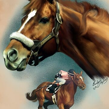 Affirmed Triple Crown Winner by BHDigitalArt