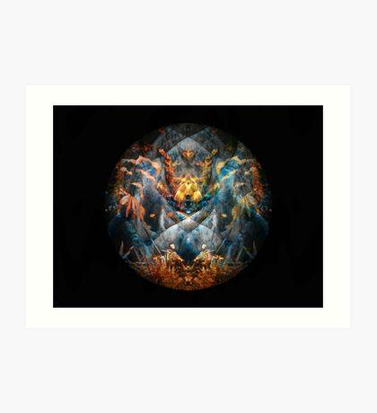 Creature Mandala Totem 3 Art Print