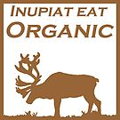 Inupiat Eat Organic - caribou in brown by Rainey Hopson