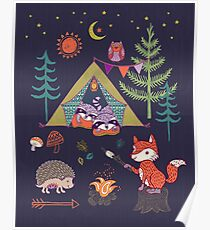 Woodland Animals Campout Poster