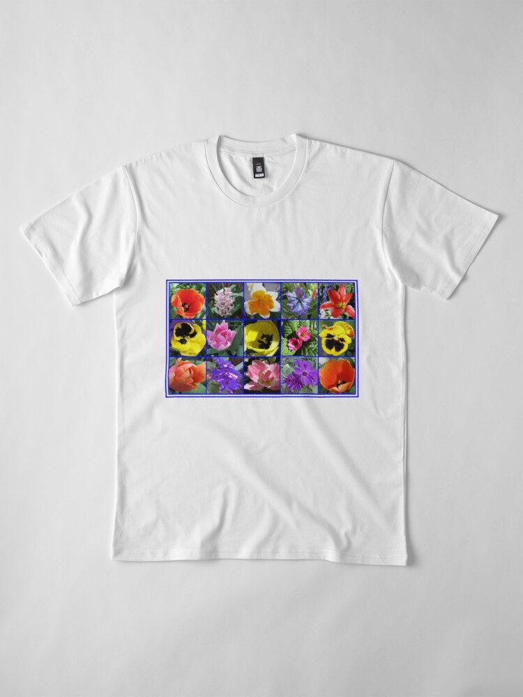 Alternative Ansicht von Blumen der Frühlings-Collage Premium T-Shirt