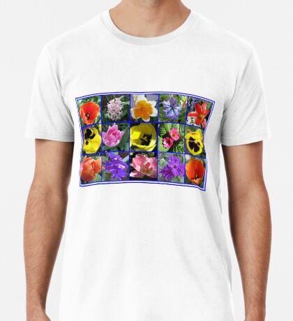 Blumen der Frühlings-Collage Premium T-Shirt